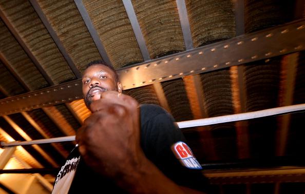 Смотрите фотогалерею Дерек Чисора во время открытой тренировки
