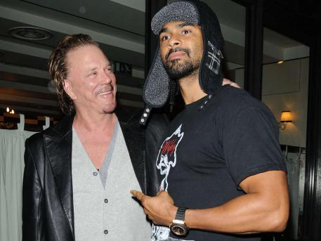 Haye and Mickey Rourke