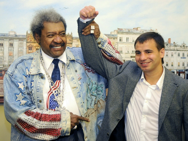 See gallery US boxing promoter Don King (L) and former WBA light welterweight champion Andreas Kotelnik of Ukrainian pose in the western Ukrainian city of Lviv