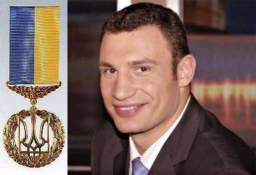 Смотрите фотогалерею Виталию Кличко присвоено звание Героя Украины