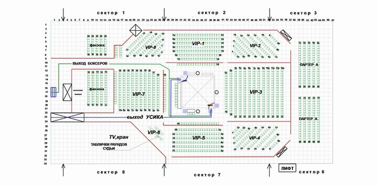 Дворец спорта в Киеве: схема